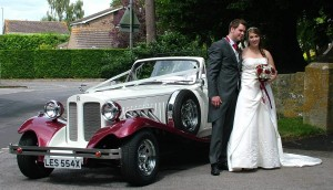 Beauford Wedding Car at Blunsdon Church