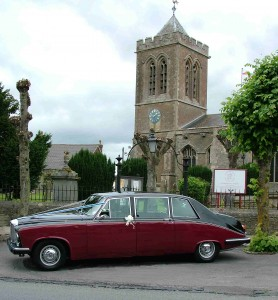 wedding car swindon Daimler