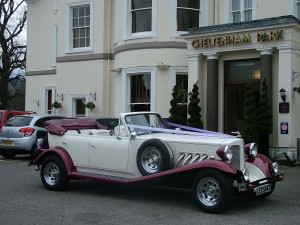 Beauford from Function Cars pictured at the Cheltenham Park Hotel
