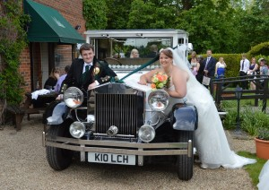 wedding car near swindon