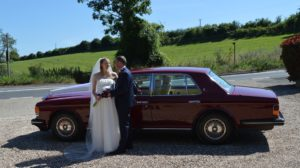 Rolls Royce wedding car for Heather and Andreas