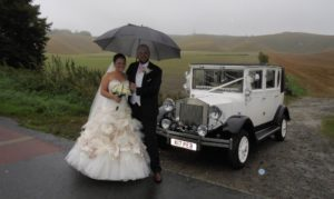 Alana & Michael with the Imperial #2 wedding car