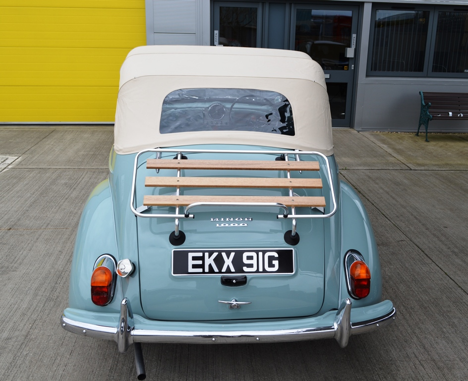 Morris Minor Convertible wedding car