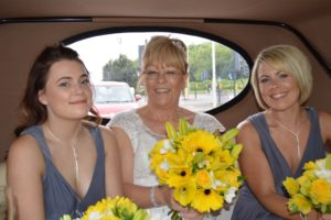 Judy & bridesmaids going to Village Hotel Swindon