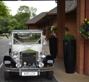 Imperial wedding car at Swindon Marriott