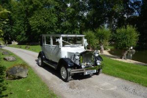 Imperial wedding car near Rockley Manor