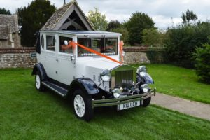 Imperial wedding car at South Marston Church