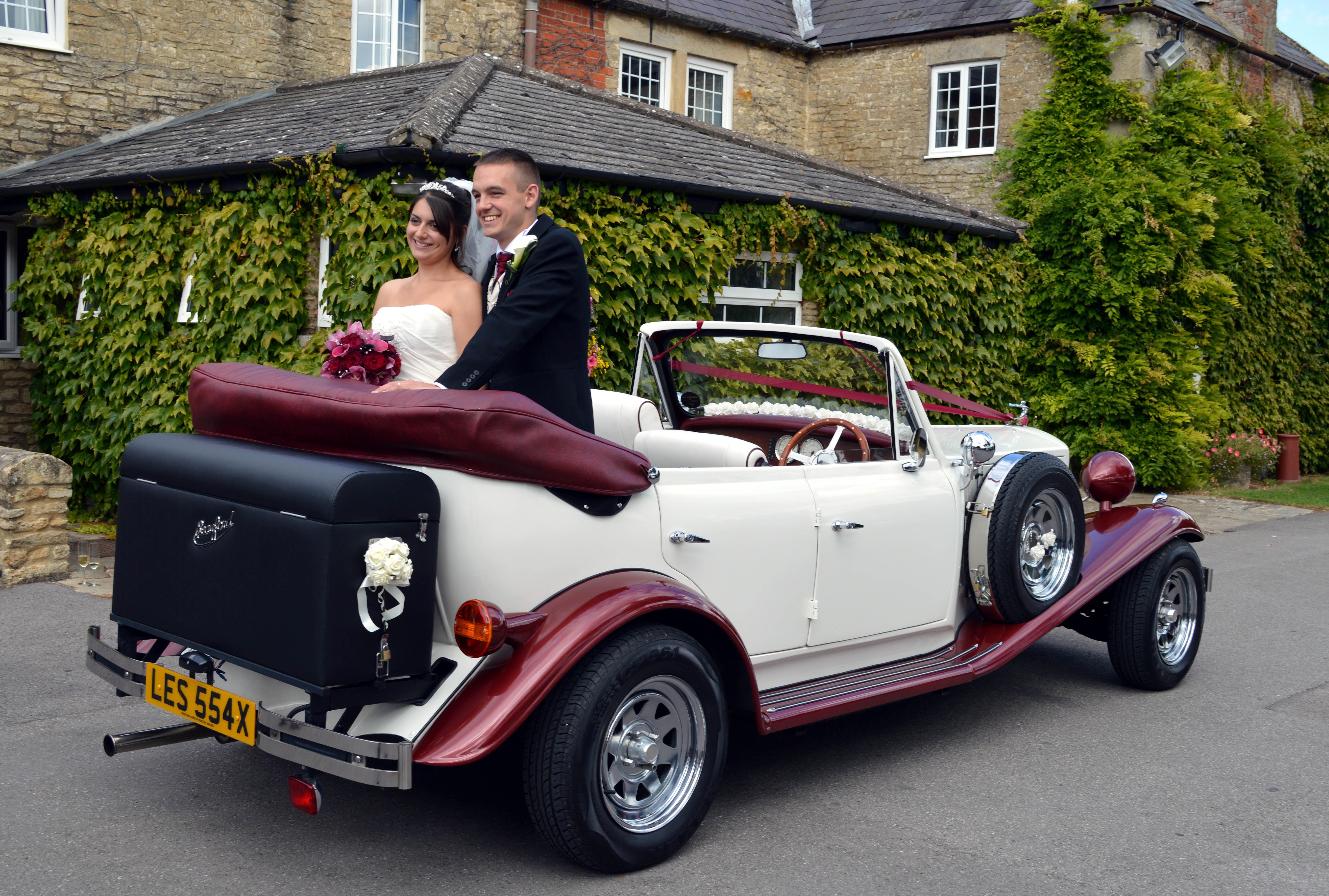 Luxury Vehicle: White Wedding Car Wedding Car Hire Near Swindon, Wiltshire